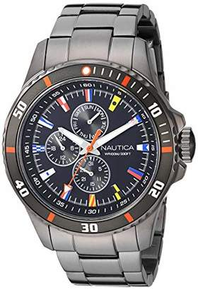 Nautica Men's NAPFRB019 Freeboard Multifunction Silicone Strap Watch