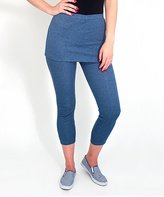 Magid Blue Skirted Leggings - Plus Too