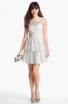 Max & Cleo Tiered Lace Fit & Flare Dress