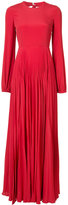 No.21 elasticated cuffs pleated gown - women - Silk/Acetate - 36