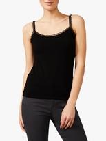 Phase Eight Sequin Trim Camisole Top, Black