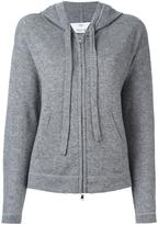 Allude hooded zipped cardigan