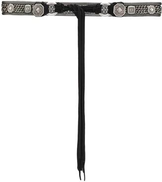 Etro Chain-Embellished Tie Belt