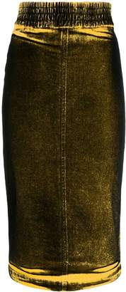No.21 faded effect pencil skirt