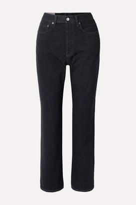 Acne Studios Mece Cropped High-rise Straight-leg Jeans - Black