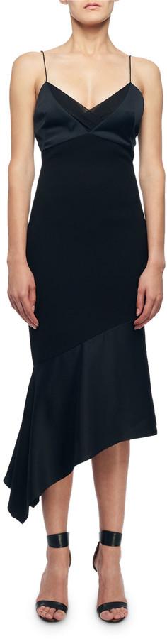 Victoria Beckham Cami-Top Asymmetric Slip Dress