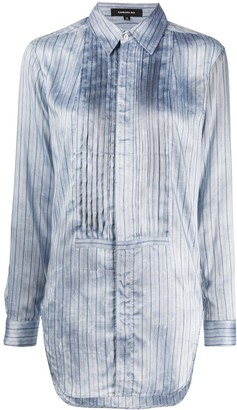 Barbara Bui Bib-Front Pinstriped Shirt