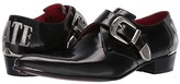 Jeffery West Adamant Love/Hate Monk Shoe (Black/Silver) Men's Shoes