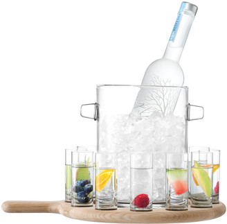 LSA International Vodka Serving Set and Oak Paddle