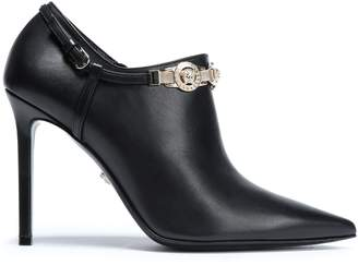 Versace Logo-embellished Leather Ankle Boots
