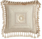 """Dian Austin Couture Home Cameo Mitered Stripe Pillow, 17""""Sq."""