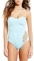 Kenneth Cole New York Solid Bandeau Tummy Toner One-Piece