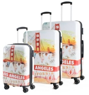 American Green Travel Prints 3-Pc. Hardside Luggage Set
