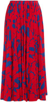 Thumbnail for your product : Marni Pleated Printed Satin-jersey Maxi Skirt