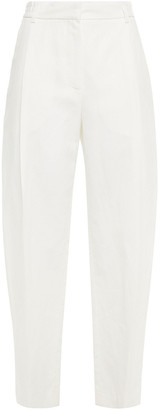 McQ Cropped Cotton And Linen-blend Twill Tapered Pants