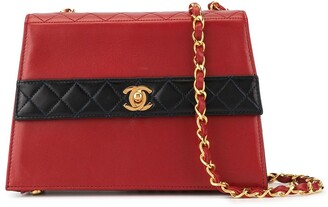 Chanel Pre Owned 1990's Bi-Color Single Chain Shoulder Bag