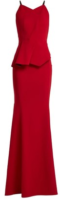 Roland Mouret Kubrick Pleated Crepe Gown - Red