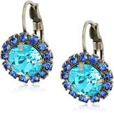 Sorrelli Ultramarine Haute Halo French Wire Drop Earrings