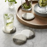 Crate & Barrel Set of 4 Marble Coasters