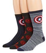 Marvel Captain America 3-pk. Crew Socks