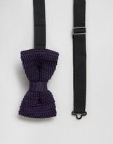 Feraud Knitted Bow Tie in Purple