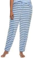 So Juniors' Plus Size SO Pajamas: Striped Velour Jogger Pants