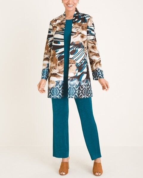 Thumbnail for your product : Travelers Collection Mixed-Print Crushed Jacket