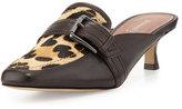 Donald J Pliner Sierra Calf-Hair Kitten-Heel Mule, Leopard