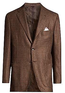 Kiton Men's Glen Plaid Tweed Sport Coat
