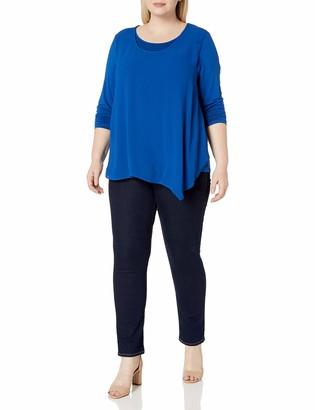 Karen Kane Women's Plus Size Overlay TOP