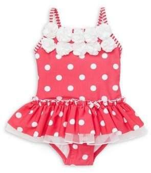 Little Me Baby Girl's Polka Dot One-Piece Swimsuit