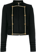 Just Cavalli contrast fitted jacket - women - Polyamide/Polyester/Acetate/Virgin Wool - 42