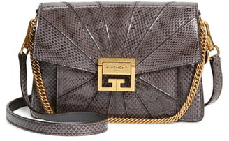 Givenchy Small Gv3 Patchwork Snakeskin Crossbody Bag