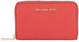 MICHAEL Michael Kors Jet Set Small Zip-Around Leather Card Case Wallet