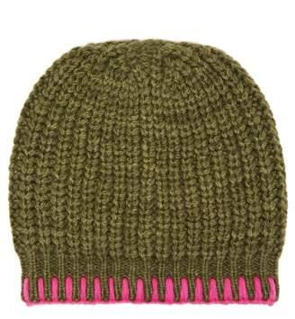 The Elder Statesman Mushroom Beanie Hat - Womens - Green Multi