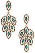 INC International Concepts Gold-Tone Stone & Pavé Petal Chandelier Earrings, Created for Macy's