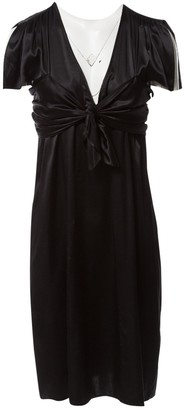 Barbara Bui Initials Black Silk Dresses