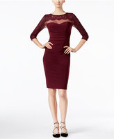 INC International Concepts Petite Lace Illusion Sheath Dress, Only at Macy's