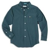 Lacoste Little Boy's & Boy's Check Cotton Poplin Woven Shirt