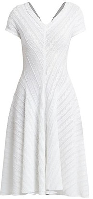 Alaia Pysche Lace Pointelle A-Line Dress
