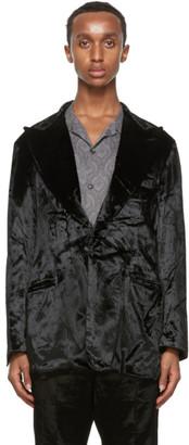 Needles Black Velvet Tuxedo Blazer