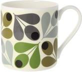 Orla Kiely Multi Acorn Mug, 350ml, Green