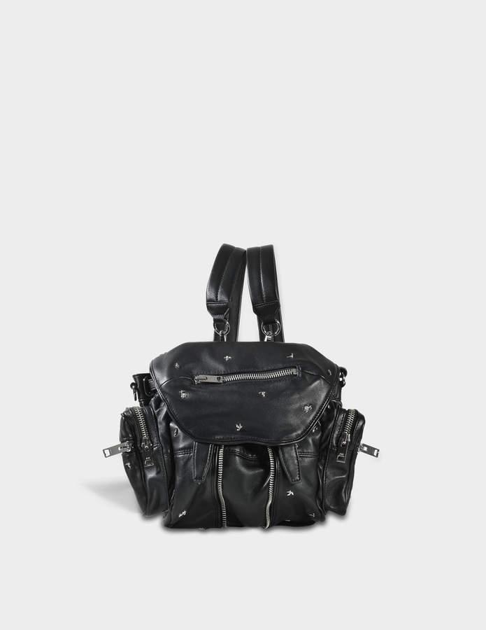 Alexander Wang Mini Marti Backpack in Black Lambskin Leather