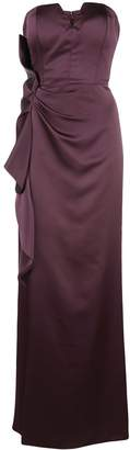 Aidan Mattox ruffled strapless gown