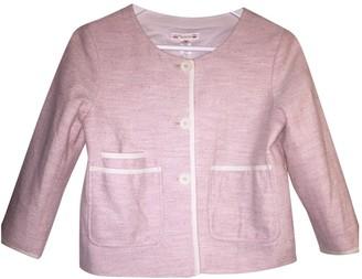 Bonpoint Pink Cotton Jacket for Women