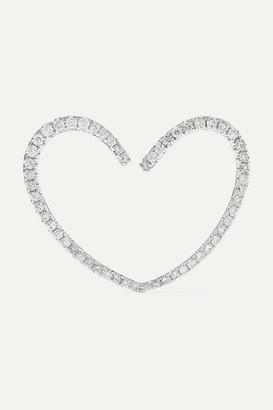 Yvonne Léon 18-karat White Gold Diamond Earring - one size