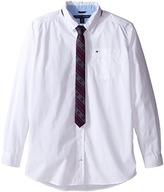 Tommy Hilfiger Kramer Long Sleeve Shirt with Tie (Big Kids)