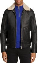 The Kooples Leather Jacket with Shearling Collar - 100% Exclusive