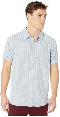 Quiksilver Waterman Sunshine Crystals Short Sleeve Shirt (Cerulean) Men's Clothing