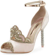 Sophia Webster Royalty Velvet Crown Embellished Sandal